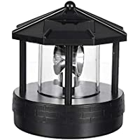 Solar Led Rotating Lighthouse Light Garden Yard Lawn Lamp Lighting Outdoor Home Decor