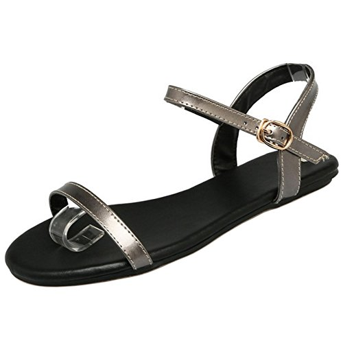 Coolcept Women Summer Flat Sandals Strap Gun Color-13 JNshK8