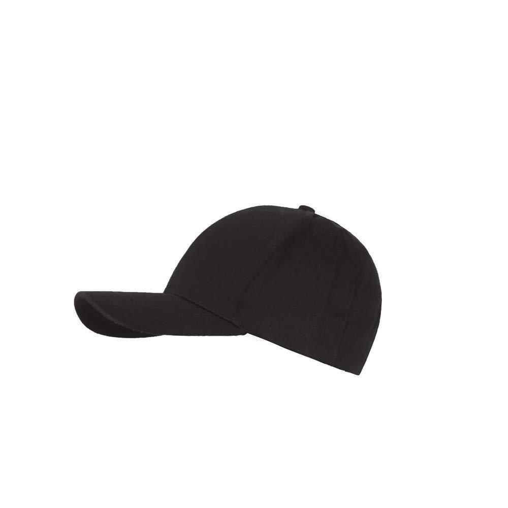 Women Baseball Cap, JOYFEEL Classic Plain Ponytail Messy Ponycaps Casual Outdoor Visor Cap Trucker Hat Low Profile Black
