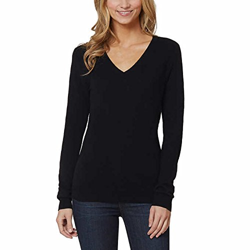 Magaschoni Womens Sweater (Magaschoni Womens V-Neck Sweater BLACK-XXLarge)