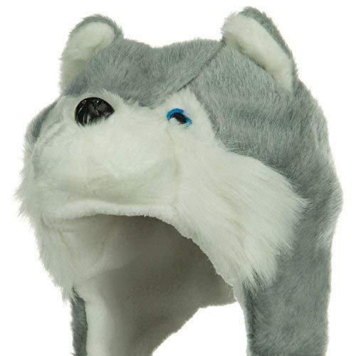 Fleece ML Animal Hat - Husky Grey W04S49F