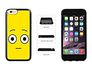 linJUN FENGBright Yellow Shocked Smiley Face TPU RUBBER SILICONE Phone Case Back Cover Apple iPhone 6 Plus (5.5 inches)