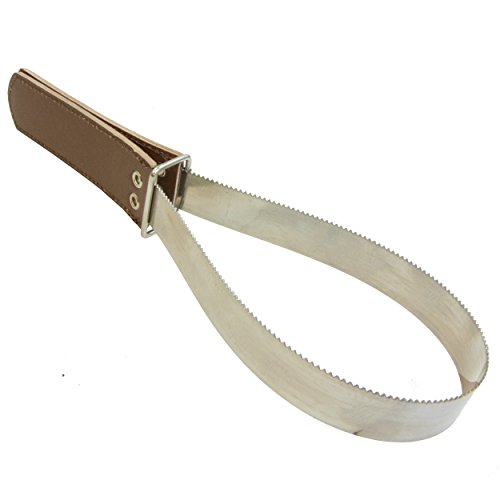 Intrepid International Metal Shedding Blade with Leather Grip