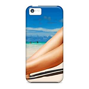 MMZ DIY PHONE CASEAwesome Case Cover/ipod touch 5 Defender Case Cover(beach Sunbathing Girl)