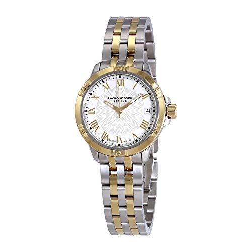 Raymond Weil Women's Swiss-Quartz Watch with Stainless-Steel Strap, Silver, 18 (Model: 5960-ST-00300