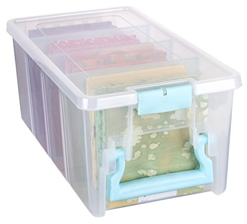 ArtBin Super Semi-Satchel-Clear Art Craft Storage Box 6925AA, Aqua Handle by ArtBin