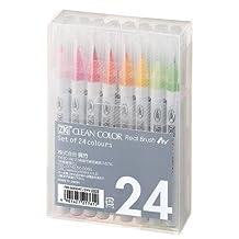 Kuretake Fude Real Brush Pen, Clean Color, 24 Set (RB-6000AT/24V)