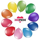 """Best Counts With Balloon Pumps - 200 Count/Pack Balloons 12"""" Multicolor Thicken Latex Balloons Review"""