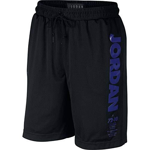 - Jordan Nike Mens Legacy Retro 11 Mesh Shorts Black/Sequoia BQ0199-010 Size Large