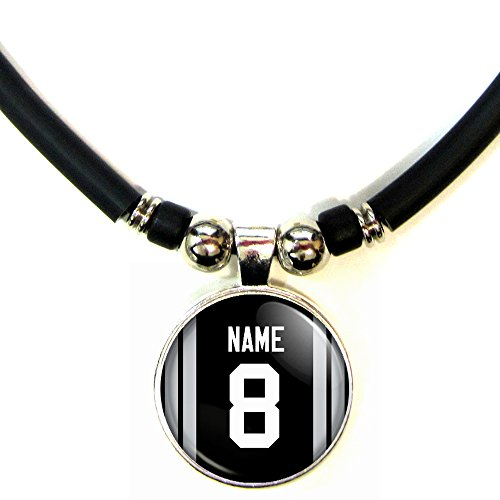 Vega Glass Pendant (Oakland Football Jersey Necklace Personalized with Your Name and Number Oakland Football Jersey Glass Pendant Necklace Jewelry- Custom Oakland Football Jersey Glass Charm Necklace)