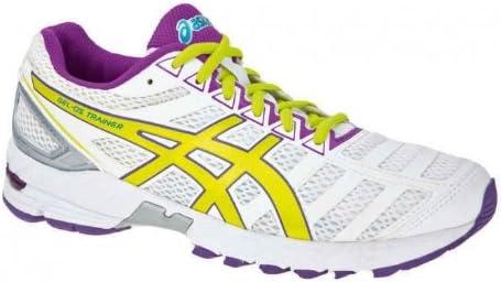ASICS Gel-DS Trainer 18 Zapatilla de Running Neutra Señora, Blanco/Amarillo/Púrpura, 43.5: Amazon.es: Zapatos y complementos