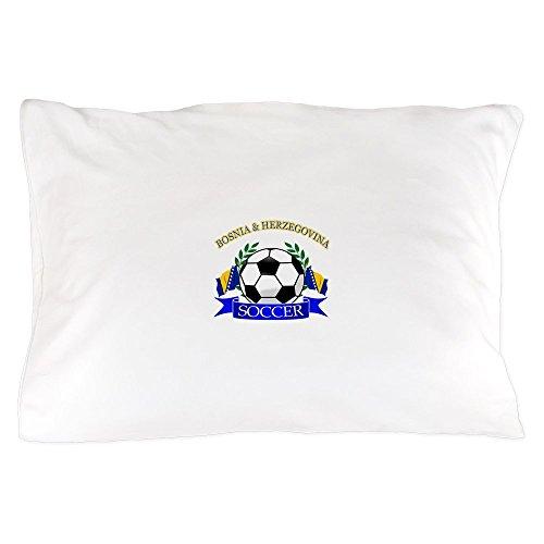 CafePress - Bosnia Herzegovina Soccer Designs - Standard Size Pillow Case, 20''x30'' Pillow Cover, Unique Pillow Slip by CafePress