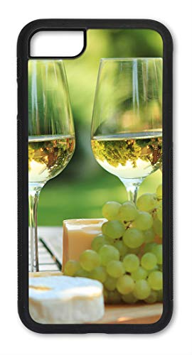 iPhone 7/8 Case, Slim Fit - Hard Shell Plastic - Full Protective Cover for Apple iPhone 7 & 8 - White Wine & Grapes