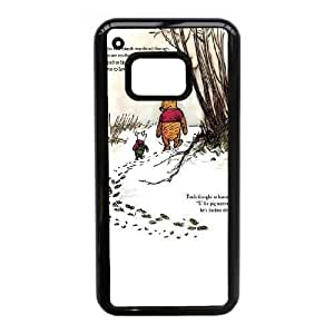 JiHuaiGu (TM) HTC One M9 funda Negro Winnie the Pooh personalizado temático HTC One M9 funda Jl1737