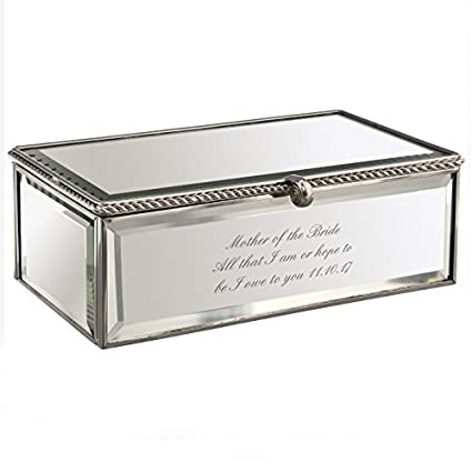 Amazon Com Personalised Mirrored Jewellery Box Great Gift By Pmc