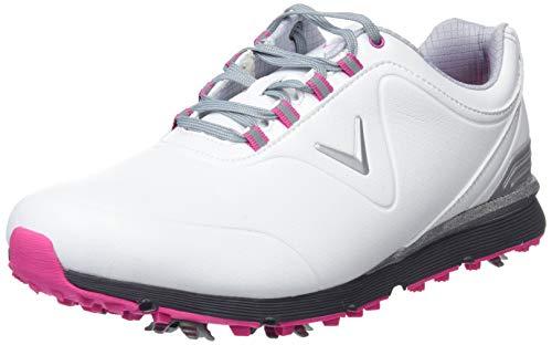 Callaway Women''s Lady Mulligan Golf Shoes, (White/Pink), 5 UK 5 UK