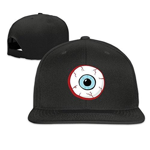 BASEE Funny Cartoon Bloodshot Eye Ball Adjustable Flat