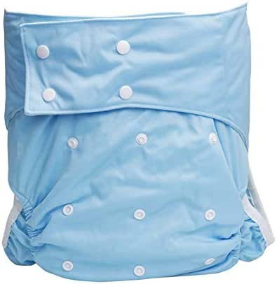 YxnGu Teen/Adult Stain Resistant Snap Closure Reusable Cloth Diaper for Incontinence Care - Washable/Adjustable/Reusable/Leakfree (Color : Blue)