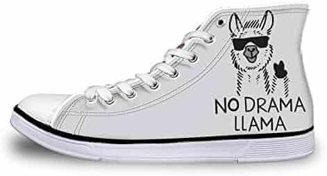 Canvas High Top Sneaker Casual Skate Shoe Mens Womens Doge Meme Crazy Shiba Inu