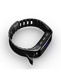 Cainda   Reloj grabador de voz, grabador de audio digital de 8 GB con pantalla OLED Soporta activación de voz, cancelación de ruido y cifrado de archivos. MP3 Music Player Pen Dictaphone