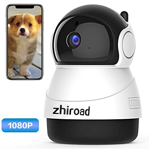 IP Camera, zhiroad 1080P Security Camera WiFi Camera Home Surveillance Camera Baby Elder Pet Dog Monitor with Pan/Tilt Night Vision Motion Detection Two-Way Audio and Remote Viewing