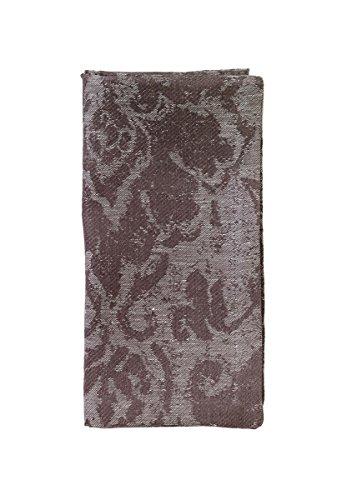 Bodrum Iznik Linen Blend Gray Napkins 22'' x 22'' (56cm x 56cm) by Bodrum