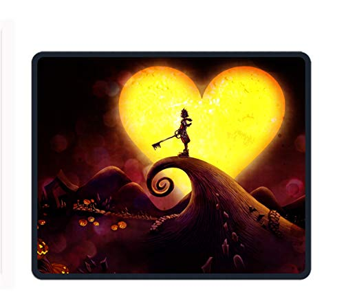 Kingdom Hearts Anti-Fray Cloth Gaming Mouse Pad, High-Performance Mouse Pad Optimized for Gaming Sensors,Designed for Maximum -