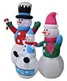 6 Foot Tall Christmas Inflatable Snowman Snowmen Family Lighted Yard Decoration