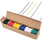 LotFancy 22AWG Stranded Wire, 6 Colors (30 Feet Each) Electrical Wire, Tinned Copper Hookup Wire Kit 22 Gauge 300V for DIY, Flexible, PVC insulated, UL Approved