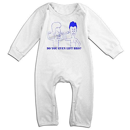 [Kamici Inflant Beavis & Butt-Head Long Sleeve Climb Clothes White 12 Months] (Matt Barkley Costume)
