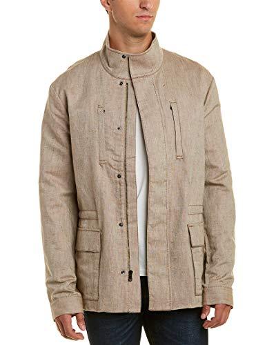 James Perse Mens Linen Coat, 4, Brown ()