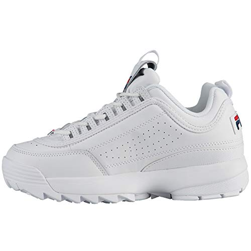 Ii Red Formatori Youth Disruptor White Peacoat Leather Fila 1g8Hcw