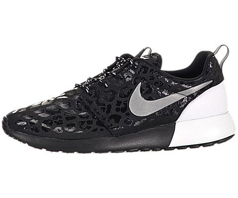 Women's Nike Rosherun Premium 525321 001 Black Reflect Silver White Running Shoe (WOMEN SIZE  7, Black Reflect Silver White)