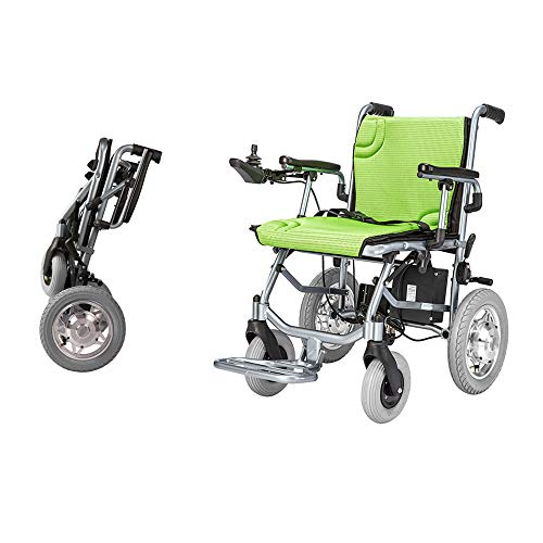 The lightest & Most Compact Powered Wheelchair in The World - Ultra Portable Folding Power Wheelchair - Weights Only 39 lbs(Including 12A lithium battery) -Brushless Dual Motor - 18