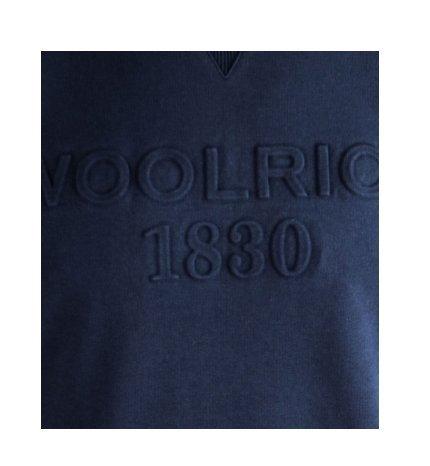 Woolrich Blu 100 300a Wofel1076 Girocollo Uomo Scuro Logo cotone Navy Felpa n8F8PrqwxY