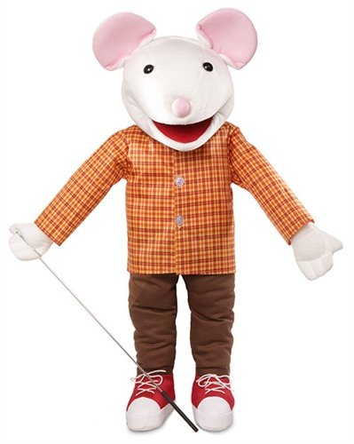 25'' Mouse w/ Sneakers, Full Body, Ventriloquist Style, Animal Puppet