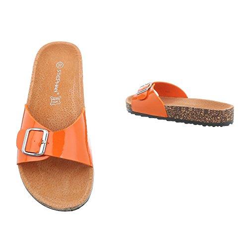 design 6 Naranja Ku Sandalias Vestir De Para Plano Mujer Zapatos Ital Zuecos 8fqPwUxTT