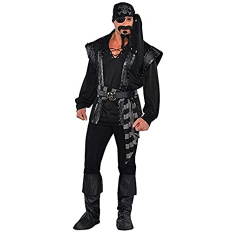 5f221feeb04 AMSCAN Dark Sea Scoundrel Pirate Halloween Costume for Men, Standard, with  Included Accessories