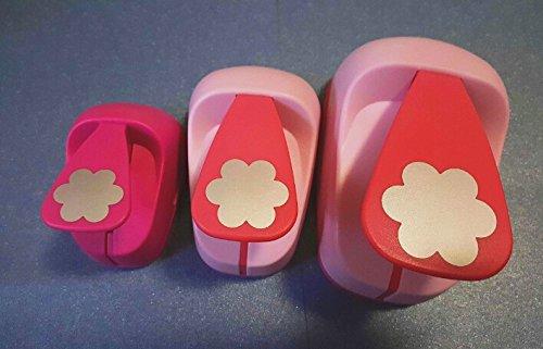 Fascola 3pcs(5.0cm,3.8cm,2.5cm) flower shape craft punch set Punch Craft Scrapbooking school Paper Puncher eva hole punch