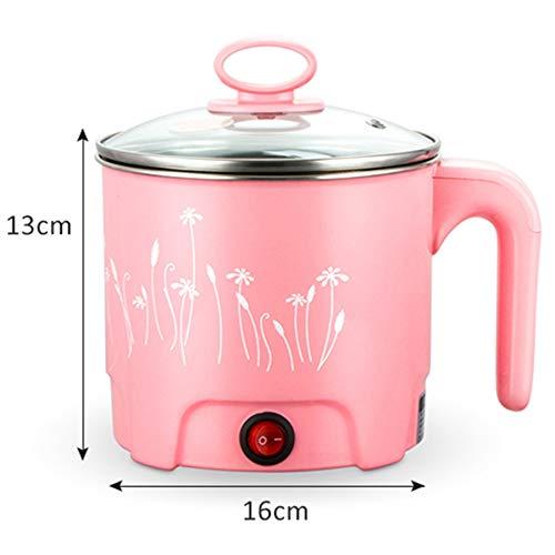 TOOGOO Multifonction 1.8L Po/êLe /éLectrique en Acier Inoxydable Hot Pot Nouilles Cuiseur de Riz /à la Vapeur Soupe Aux Oeufs Pot Pot Chauffage Pan Pink-EU Plug