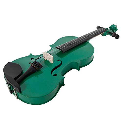Lovinland 4/4 Acoustic Violin Green Beginner Violin Full Size with Case Bow Rosin by Lovinland (Image #2)
