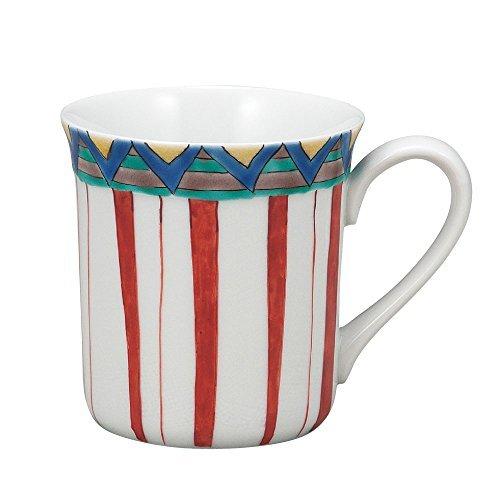 Kutani Yaki(ware) Coffee Mug Stripe by Kutani