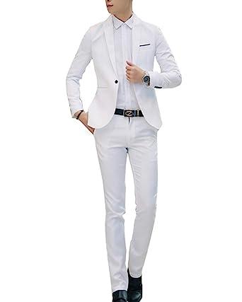 Slim Pièces Costume Deux D'affaire Fit Mariage Veste Homme RwRqOt7xF