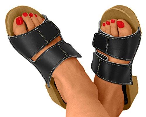 Femme Line pour Noir Mules Comfort qw0U14w