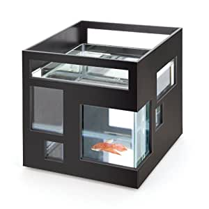 Fish hotel black fishbowl aquarium home kitchen for Umbra fish hotel