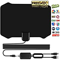 Antenna for Indoor, Amplified HD Digital TV Antenna with 120 Miles Long Range, Support 4K 1080p & All Older TVs for Indoor with Powerful HDTV