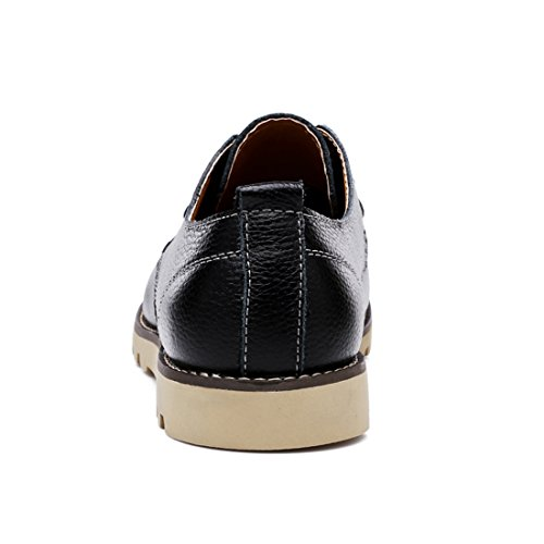 Xiafen Mens Comfort Business Fashion Casual Massage Loafers Dress Schoenen Zwart