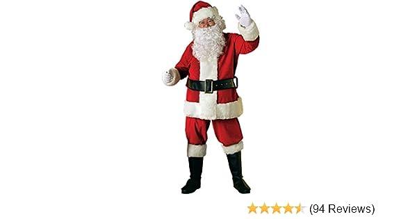 Amazon.com: Rubies Adult Deluxe Velvet Santa Suit With Wig ...