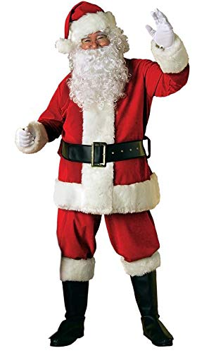 Amazon.com: Rubies Adult Deluxe Velvet Santa Suit With Wig ...