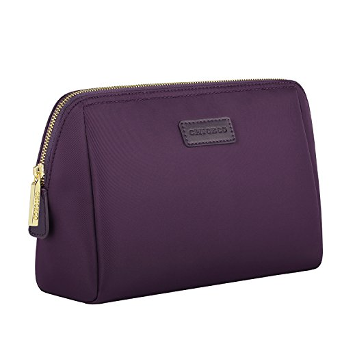 (CHICECO Handy Travel Toiletry Bag for Women Skincare Pouch Makeup Bag - Dark Purple)